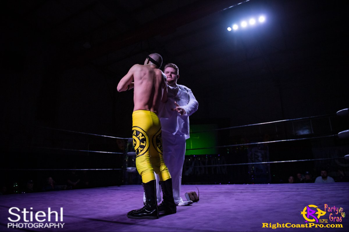 GOD 5 RCP52 PARTYGRAS rightcoastpro wrestling delaware