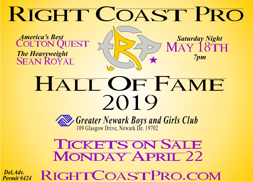 2019 RCP Hall of Fame May 18th