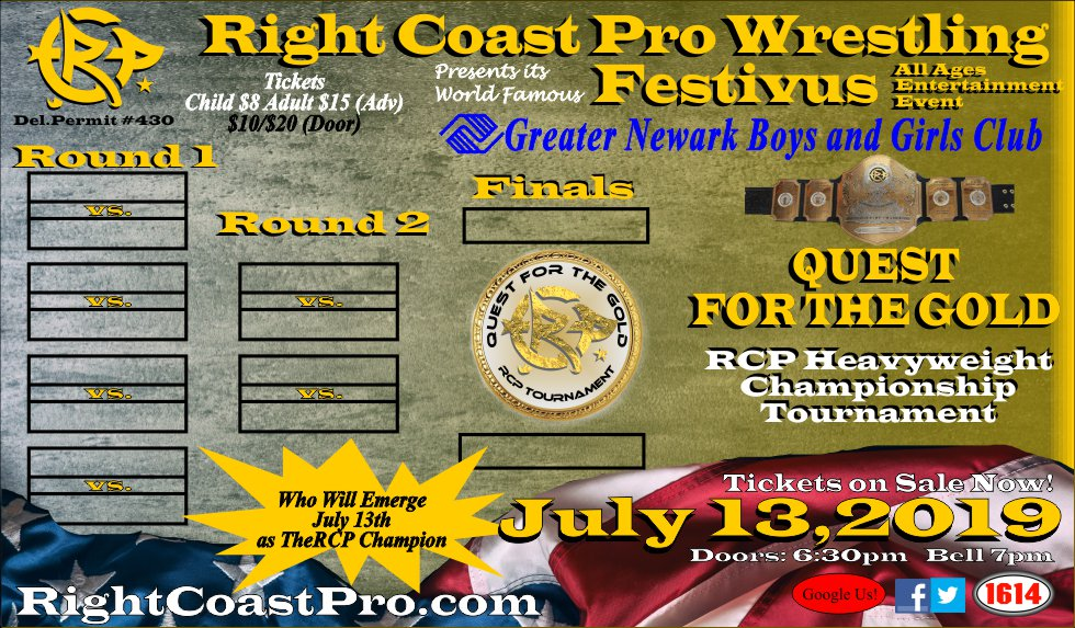 July 13th - Festivus featuring Quest for the Gold Tournament