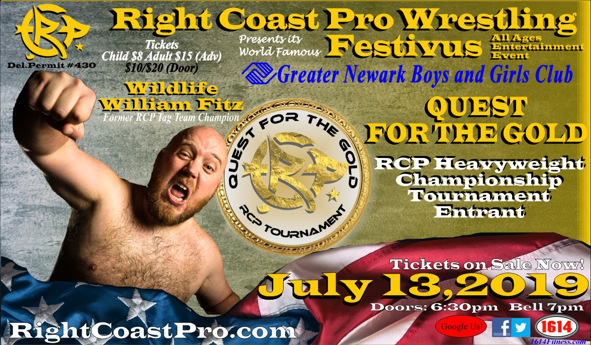 RCP56 Fitz Entrant RightCoastPro Wrestling Delaware Event