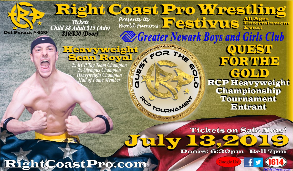 RCP56 Royal Entrant RightCoastPro Wrestling Delaware Event
