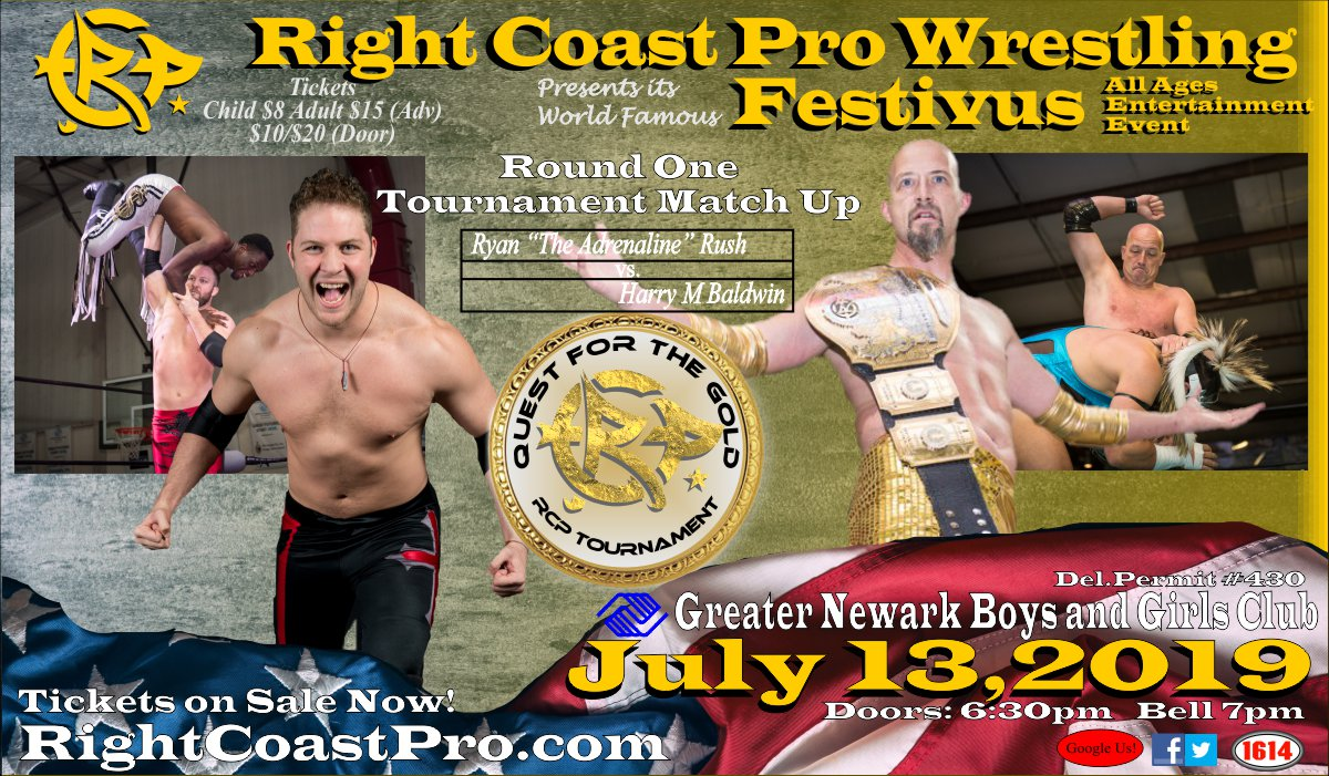 Rush Harry RCP56 RightCoastPro Wrestling Delaware Event