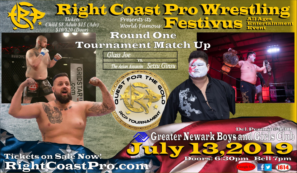 Setsu Joe RCP Tournament Round1 RCP56 RightCoastPro Wrestling Delaware Event