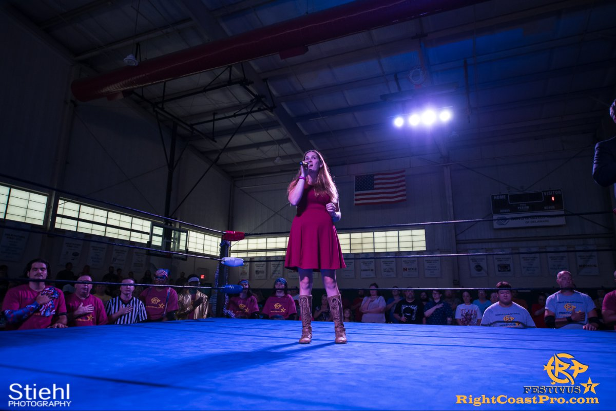 RCP56 1 NationalAnthem FESTIVUS rightcoastpro wrestling delaware