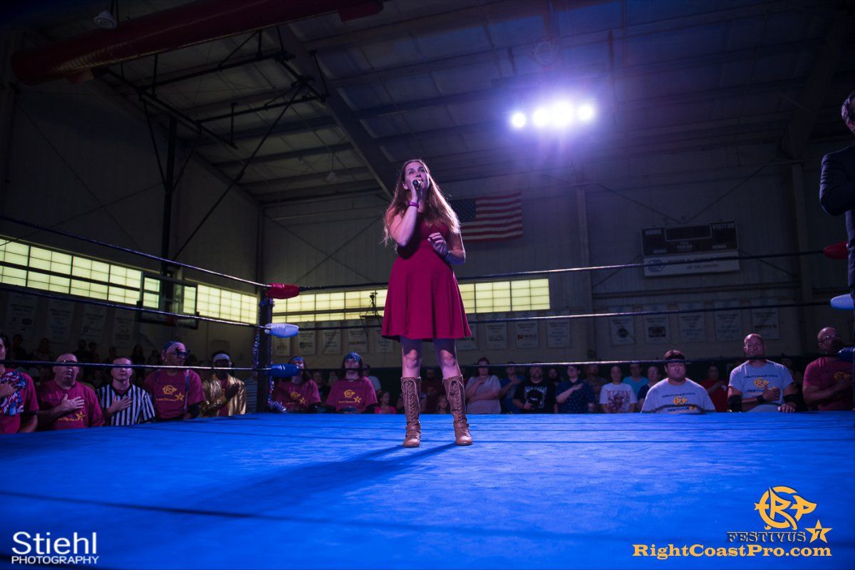 RCP56 2 NationalAnthem FESTIVUS rightcoastpro wrestling delaware