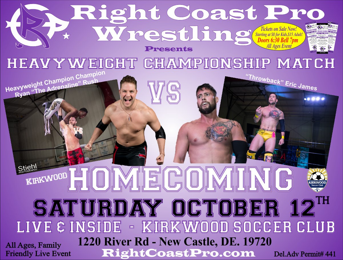 RCP58 HeavyweightChampionship Homecoming RightCoastProWrestling Google