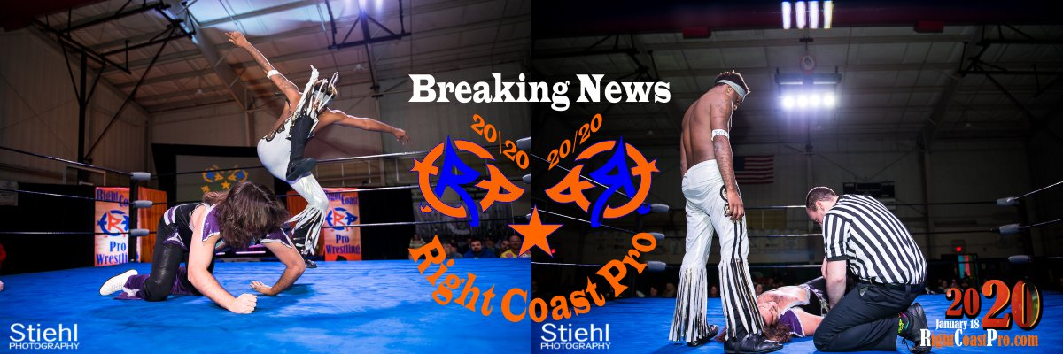 RCP60 RUSH GOD 2BANNER RightCoast ProWrestling Delaware