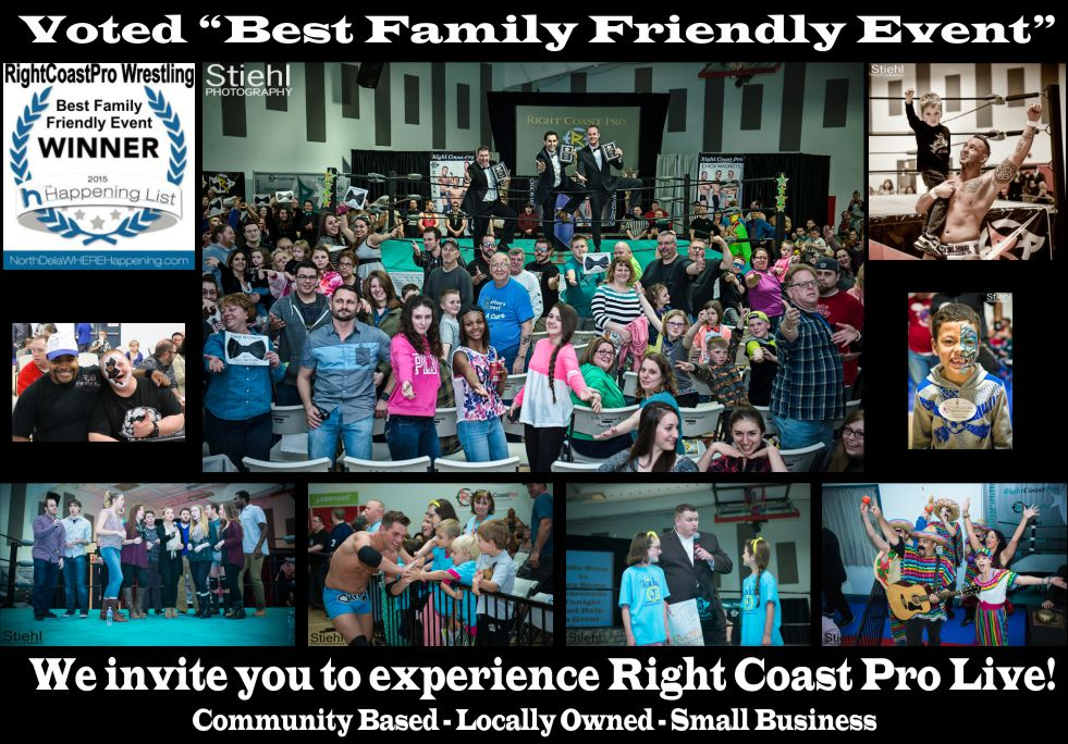 Voted2 Best Poster RightCoastPro Wrestling Delaware Sports Entertainment