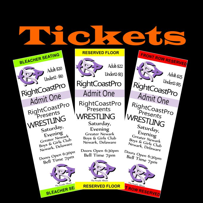 Tickets Orange Website RightCoastPro Wrestling Delaware