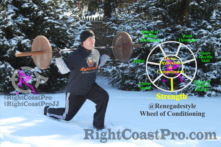 Snow Lunge DMC Delaware Renegade Training RightCoastPro Wrestling