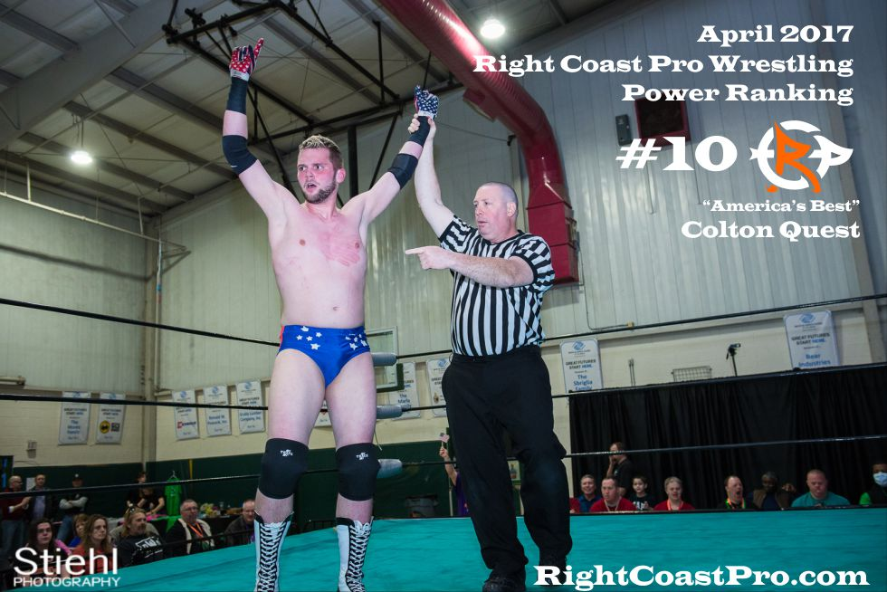 ColtonQuest 10 April Delaware Prowrestling ranking