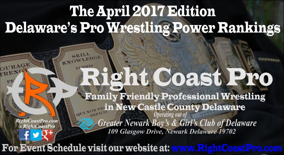 Header RightCoastPro April Delaware ProWrestling Rankings