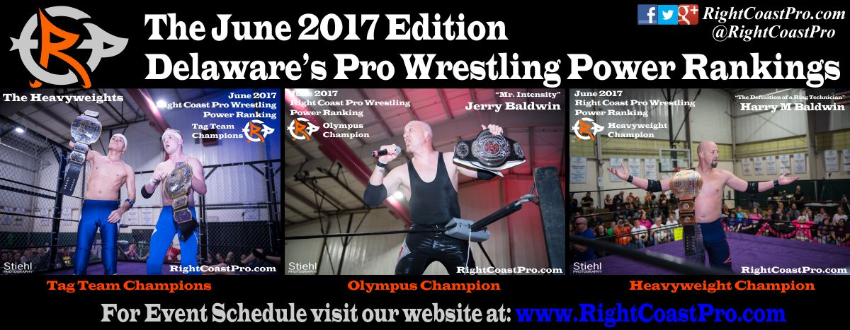 June Delaware ProWrestling Rankings