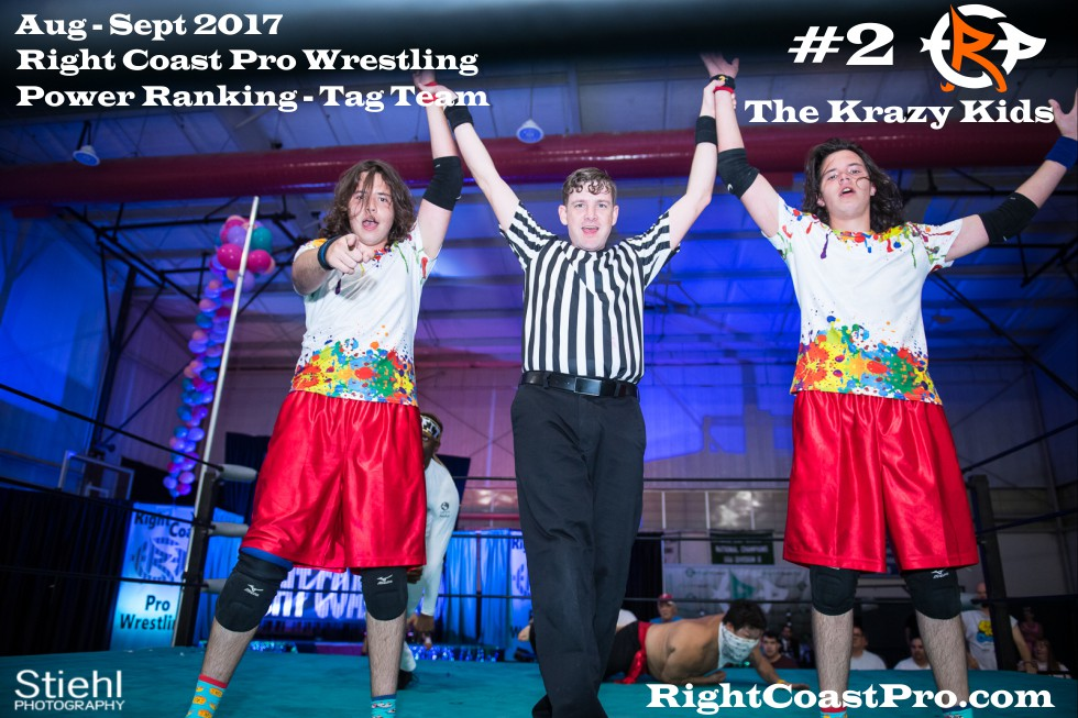 2 KrazyKids September Delaware Professional Wrestling TagTeam Rankings