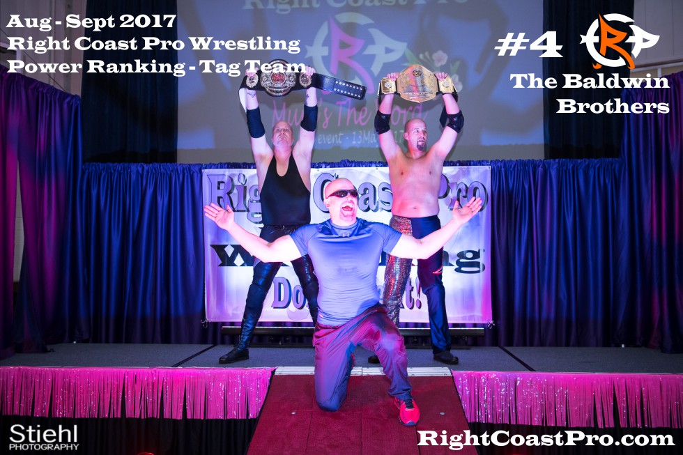 4 BaldwinBrothers September Delaware Professional Wrestling TagTeam Rankings