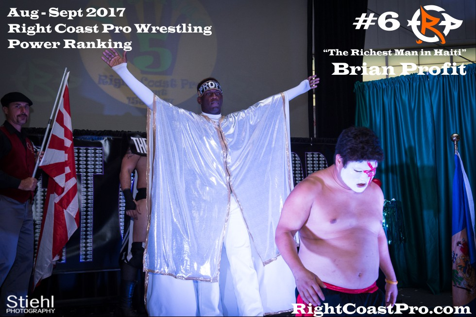 6 BrianProfit September Delaware Professional Wrestling Rankings