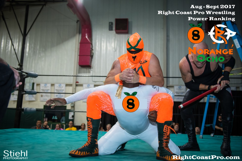 8 NorangeOcho September Delaware Professional Wrestling Rankings