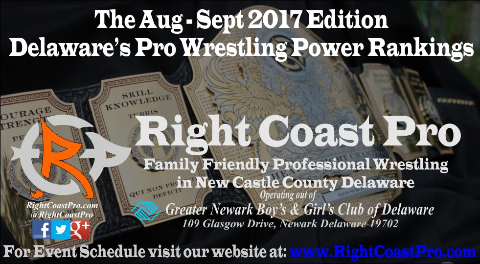 Singles Header September Delaware Professional Wrestling Rankings