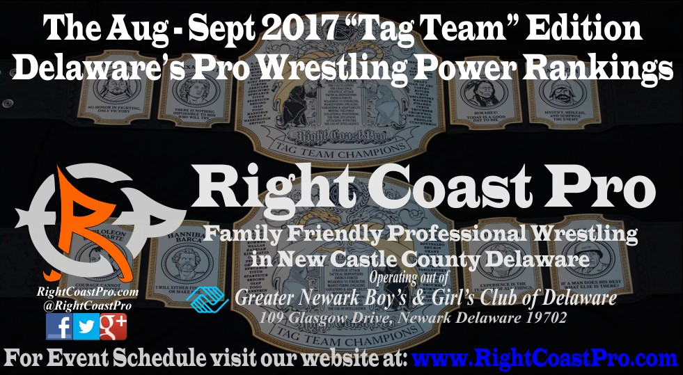 TagTeam Header September Delaware Professional Wrestling Rankings