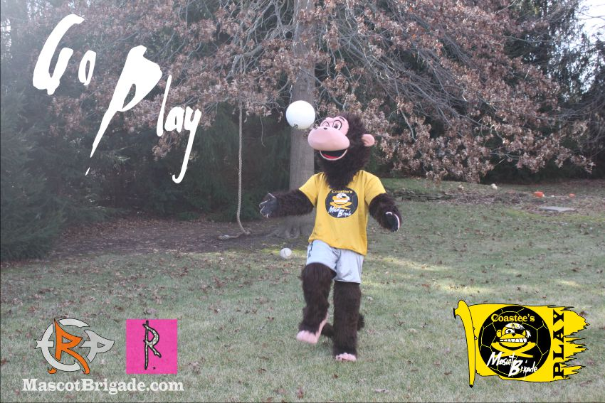soccer kick play Mascot Brigade RightCoastPro Renegade Coastee