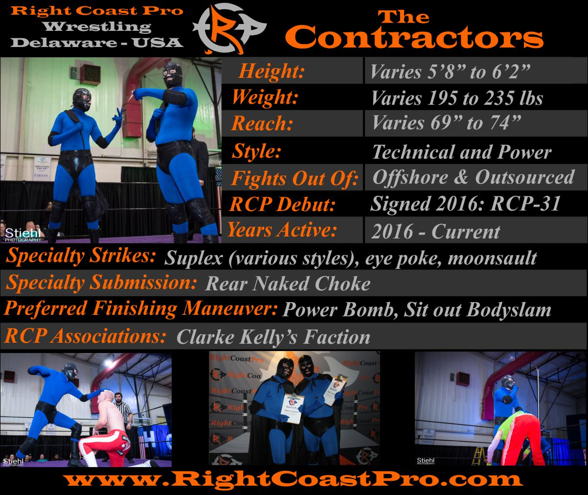 Contractors profile RightCoast Pro Wrestling Delaware Event