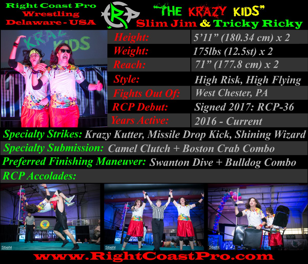 KrazyKids Profiles RightCoastPro Wrestling Delaware