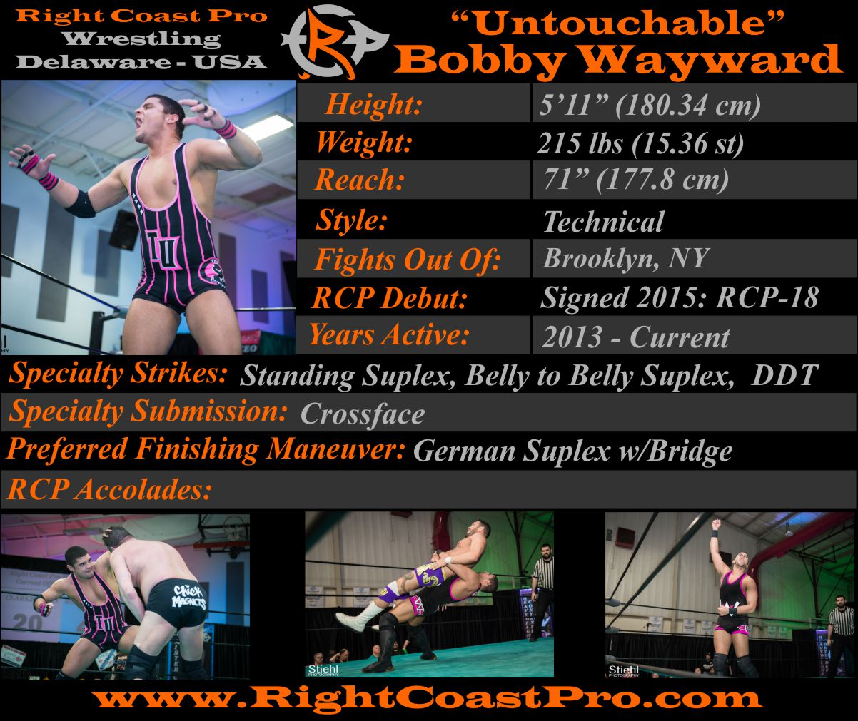 BobbyWayward Profiles RightCoastPro Wrestling Delaware