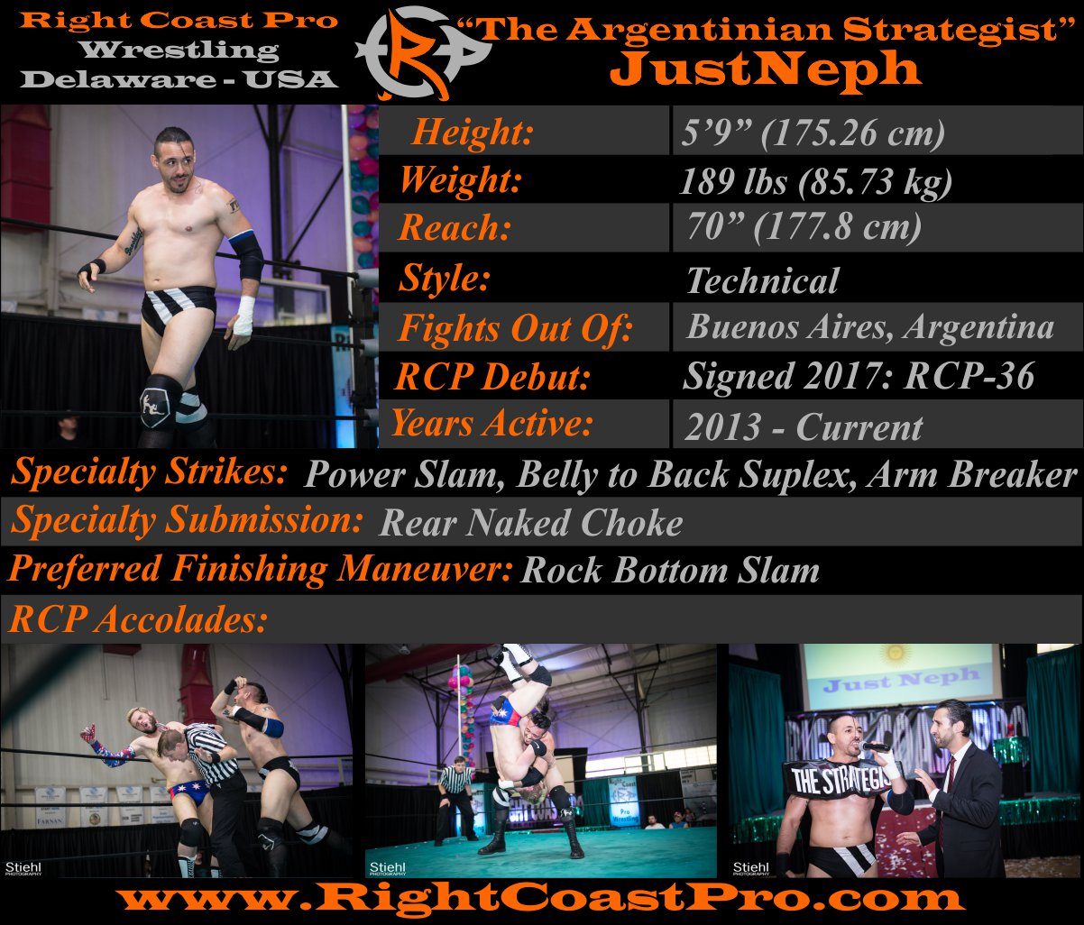 JustNeph Profile RightCoastPro Wrestling
