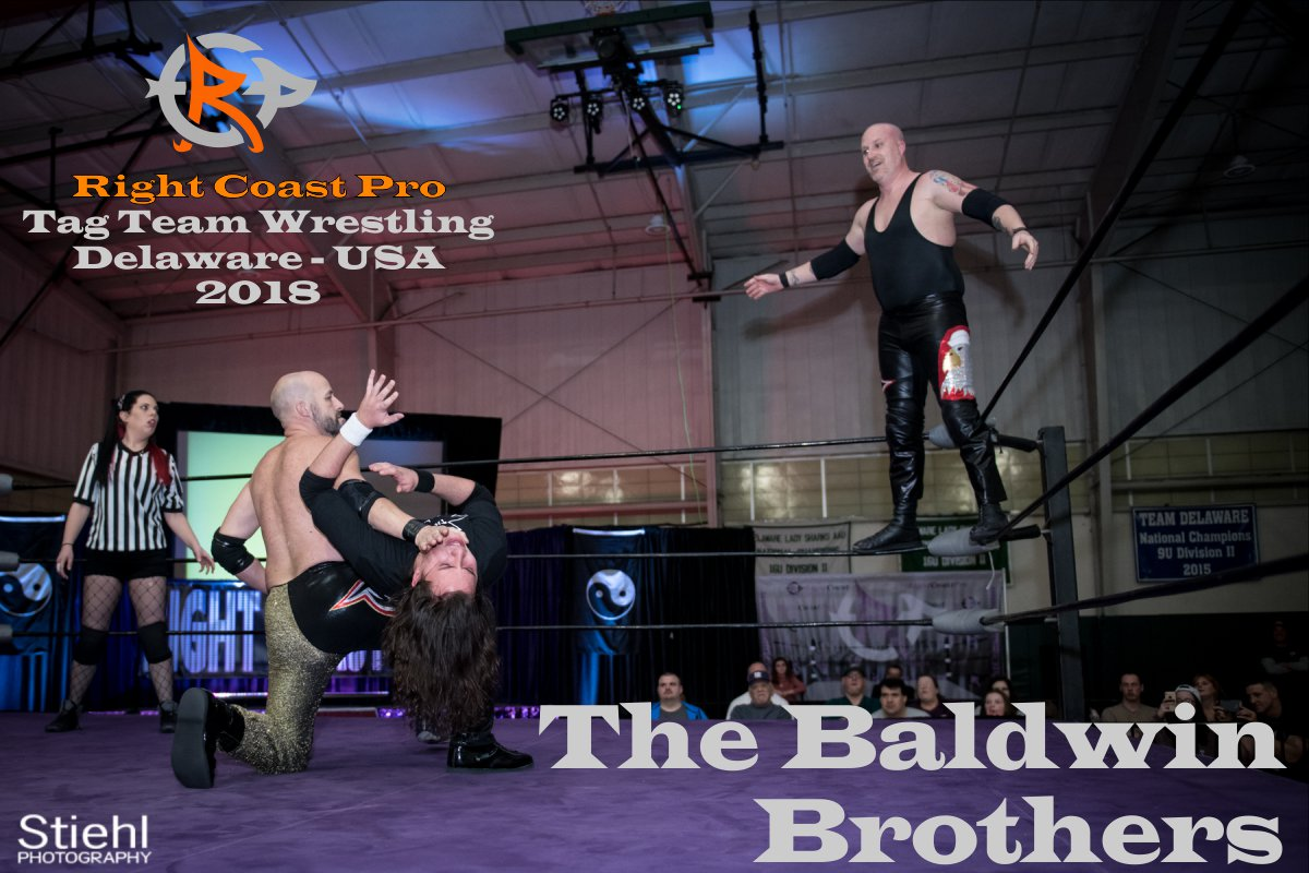 Baldwins tagteam 2018 Roster RightCoastPro Wrestling Delaware