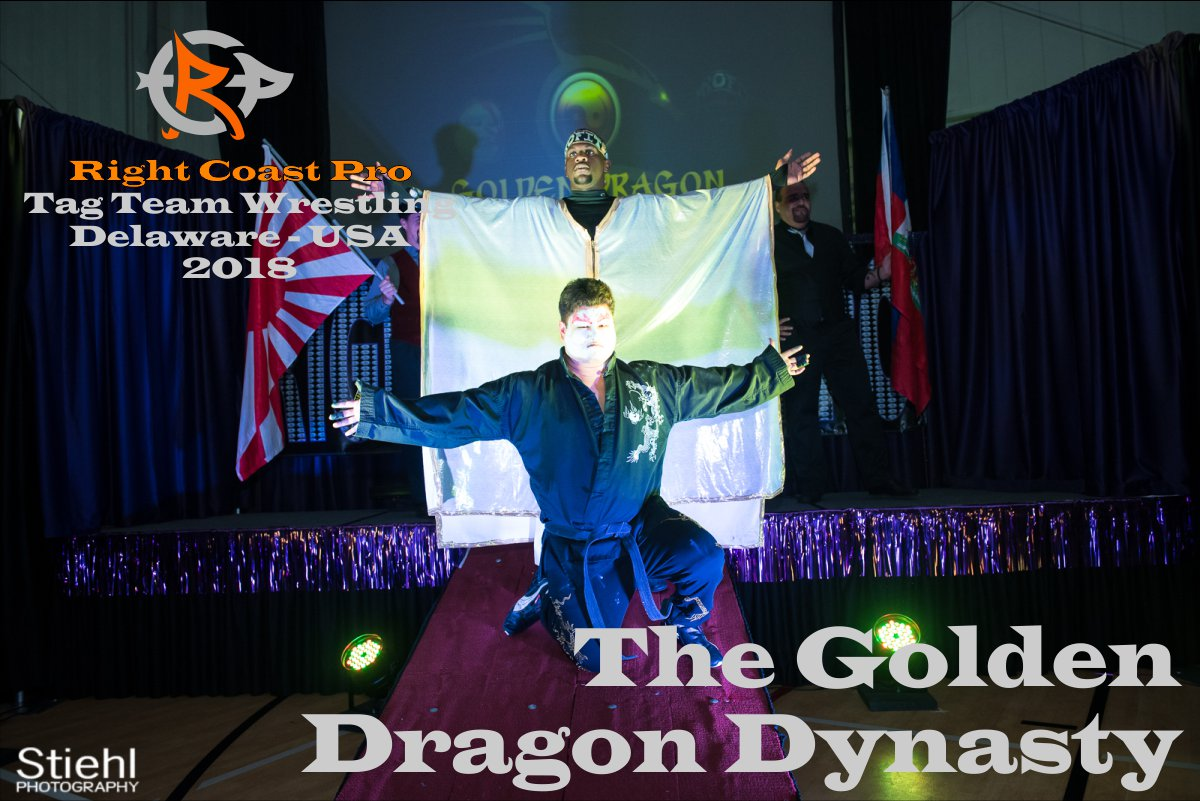 GoldenDragon tagteam 2018 Roster RightCoastPro Wrestling Delaware