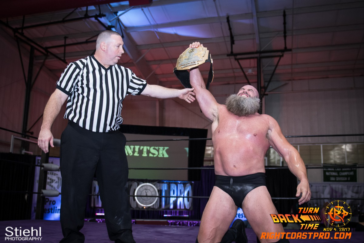 Snitsky C Champion TurnBackTime RightCoastProWrestling