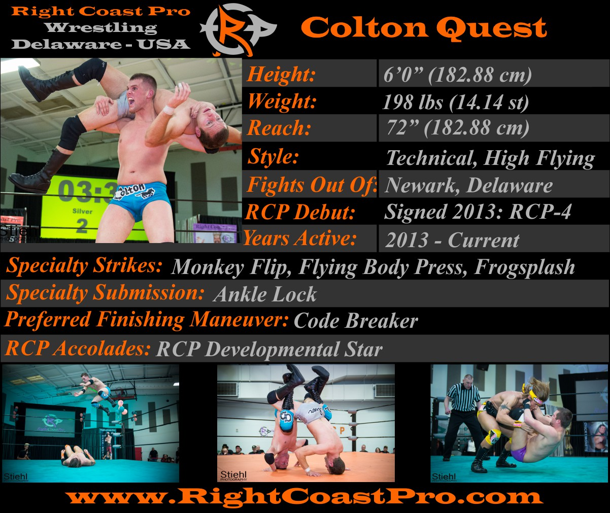 ColtonQuest Profile RightCoastPro Wrestling Delaware