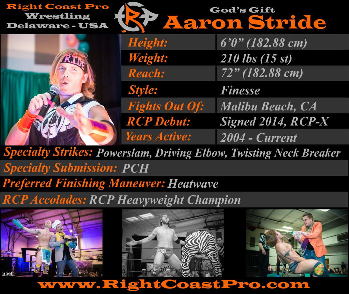 AaronStride AthleteProfile RightCoastPro Wrestling Delaware