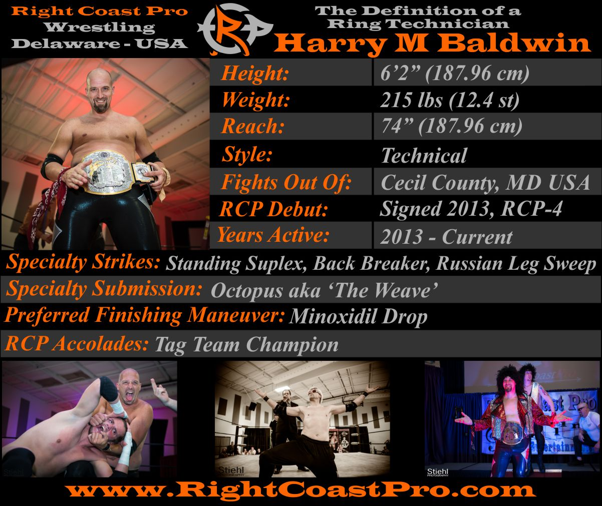 Harry Baldwin AthleteProfile RightCoastPro Wrestling Delaware