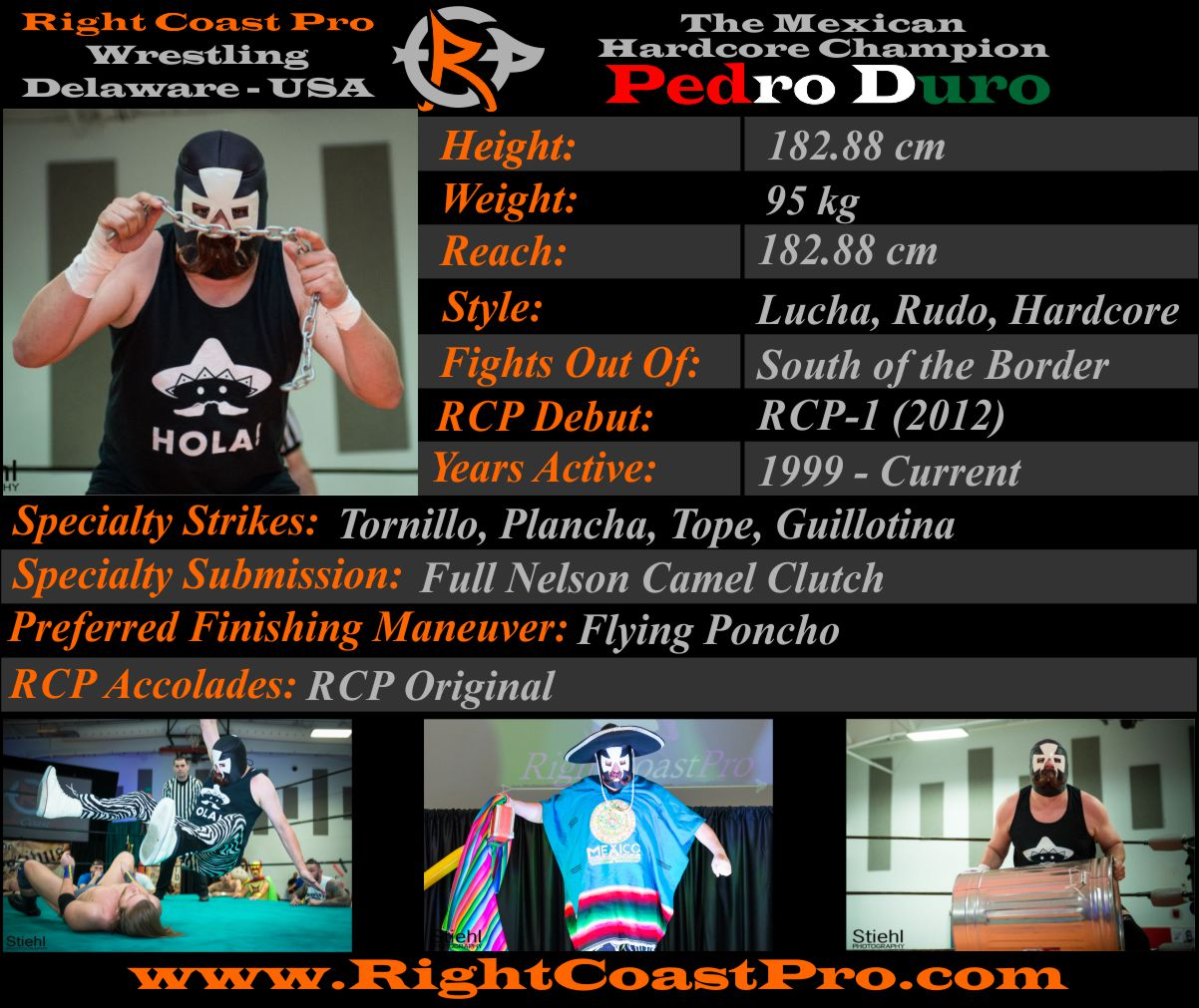 PedroDuro AthleteProfile RightCoastPro Wrestling Delaware